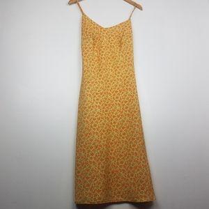 Vintage Divine | Yellow & Orange Floral Slip Dress
